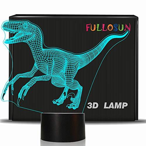 ic Velociraptor Raptor LED Nachtlicht Baby Kinderzimmerlampe für Kinderzimmer Home Decor Weihnachten Geburtstag Geschenke mit 7 Farbwechsel ()
