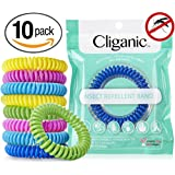 10 Pack Mosquito Repellent Bracelets, 100% Natural   Bug & Insect Protection, Waterproof DEET-FREE Band   Pest Control for Kids & Adults