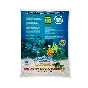 "Bio - active ""live"" Aragonite Reef Sand 20lb (2pc)"