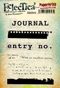 PaperArtsy s'accrochent les timbres sur Support EZ-Eclectica Par Sara Naumann ESN02 3