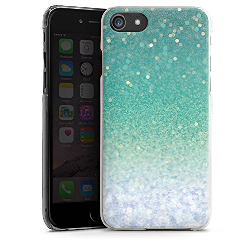 Apple iPhone X Silikon Hülle Case Schutzhülle Glitzer Grün Glitter Hard Case transparent