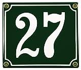 Buddel Bini Wetterfestes Emaille Hausnummernschild 27 12 x 14 cm, sofort lieferbar, grün