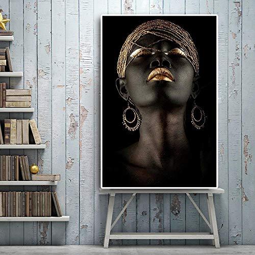 Black African Nude Woman Malerei Auf Leinwand Poster Und Drucke Scandinavian Wall Art Bild Für Wohnzimmer 50Cmx70Cm -