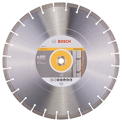 Bosch Professional Diamanttrennscheibe Expert für Universal, 400 x 20,00 und 25,40 x 3,2 x 12 mm, 2608602572