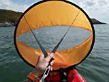 BaiFM Downwind Paddle Kayak Wind Sail Kit 46 inches Kayak Canoe Accessories, Compact, Portable, Easy Setup & Deploys Quickly Orange by BaiFM