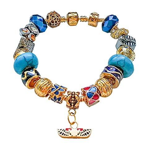 Bisoux! Vergoldet Armband Charms Ägypten Dames Glasperlen Kristall Exklusive Limitierte Auflage