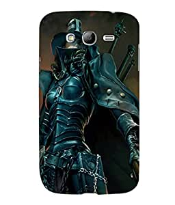 printtech Girl Warrior Sword Back Case Cover for Samsung Galaxy Grand Neo Plus::Samsung Galaxy Grand Neo Plus i9060i