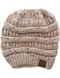 Hmmao Sombrero Gorro De Punto para Mujer Dot Color Dot Gorro De Punto 9776f272c83