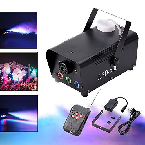 (KT Stage Light 500W Rauchmaschine Schwarz 3LED RGB mit Fernbedienung Gute Atmosphäre für verschiedene Festivals Party Bar Disco Clubs Hochzeit Szene …)