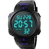 Reloj Digital Hombre,Welltop Reloj Deportivo Hombre Reloj cronometro con Temporizador de Alarma, dial Grande,Impermeable al A