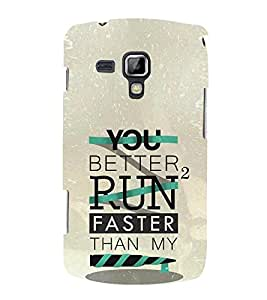 Fuson Designer Back Case Cover for Samsung Galaxy S Duos 2 S7582 :: Samsung Galaxy Trend Plus S7580 ( Love Quotes Inspiration Emotion Care Fun Funny )