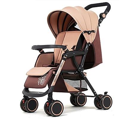 NAUY @ Baby Trolley Alto Paisaje Puede recostarse Ultra-luz Portable Fold 1-3 años de Edad Baby Baby Baby Carruaje de Alto Carbono de Acero Paraguas Coche Sillas de Paseo
