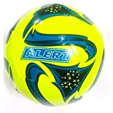 Lively Moments Handball / Spielball / Wurfball ca. 13 cm mit epischer Galaxy - Optik in Neon Gelb-Blau-Schwarz