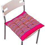 Fulltime® Baumwolle Sitzkissen Stuhlkissen für Innen- und Außenbereich 40cm x 40cm (Pink)