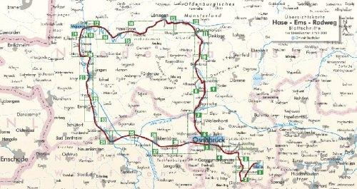 Hase - Ems - Tour: Zwei-Flüsse-Rundtour im Osnabrücker und Ems-Land. Ein original bikeline-Radtourenbuch. Mit Karte 1:50.000, 332 km, wetterfest/reißfest, GPS-Tracks-Download