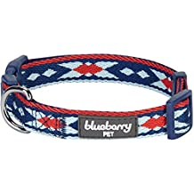 Blueberry Pet - Collar de neopreno acolchado para perro, diseño tribal vintage