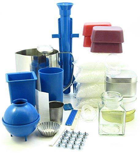 Complete candle making kit. Moulds, votive, jug, 2.5Kg wax makes 50 candles