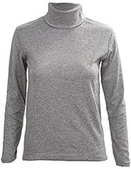 SODIAL(R) Moda para Hombre otono invierno de cuello alto sueter camisa patron puro Jersey Gris claro - L