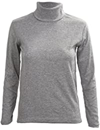 SODIAL(R) Mode Hommes Automne Hiver Col Roule Sweater-Shirt Motif solide Pull Gris Clair L
