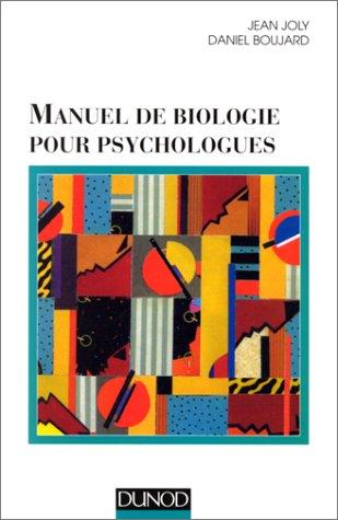 Manuel de biologie pour psychologues