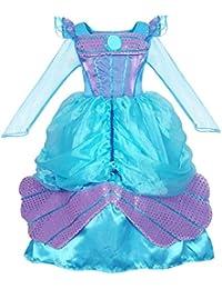 d34f57ae8580 AmzBarley The Little Mermaid Costume Ariel Dress up Girls Kids Fish Tail  Party Fancy Dresses Halloween
