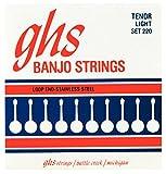 GHS PF220 Jeu de 4 Cordes pour Banjo Light