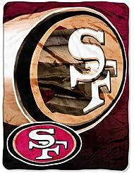 "san Francisco 49ers NFL Micro Raschel Blanket (Bevel Series) (80x60"")"""