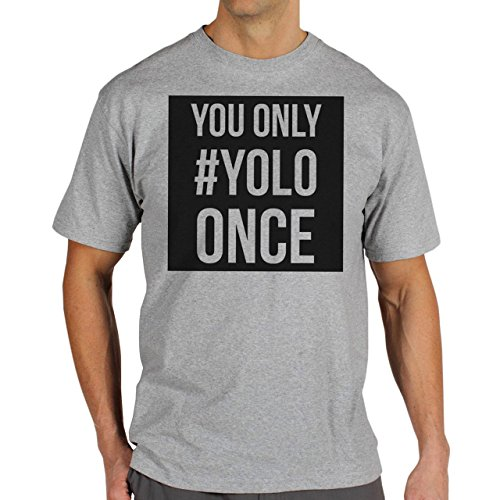 YOLO Swag Black And White You Only YOLO Once Background Herren T-Shirt Grau
