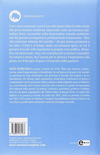 Libro Le ultime lettere di Jacopo Ortis  Ediz  integrale di