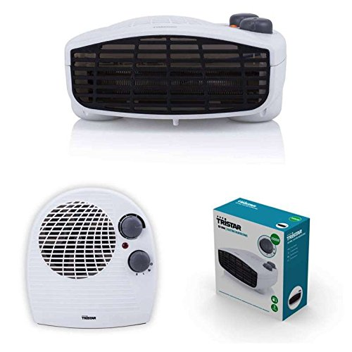 2in1 Heizlüfter und Ventilator mit starken 2000 Watt 3 Stufen (mobile Elektro Heizung, Lüfter, einstellbarer Thermostat, Kontrolllampe, Überhitzungsschutz) (Kompakt-elektro-raum-heizung)