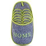 Set di Ciabatte in Feltro, Pantofole antiscivolo, set di 4, Tessuto, per uomo e donna, Benvenuto a Casa