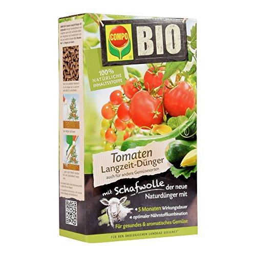 Compo 20297Bio Engrais pour tomates de longue durée avec laine de mouton, 750g