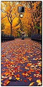 Snoogg New York autumn park Designer Protective Back Case Cover For Micromax Canvas Express A99