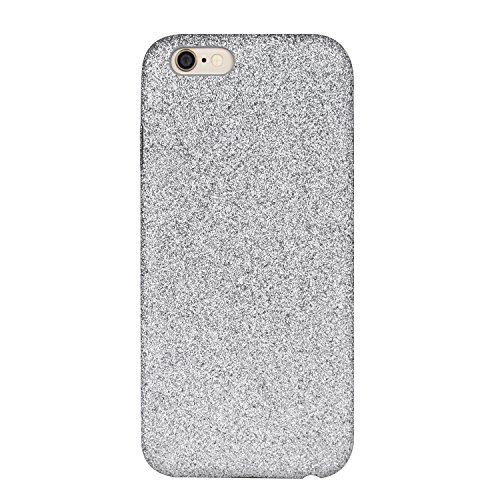 Glitzer Hülle für iPhone 6 6S Plus - Forepin® Bling Bling Handy-Hülle Glanz Sparkle PC Bumper Case Cover Rückseite Hülle Etui für iPhone 6 6S Plus 5.5 Zoll, Rot Grau