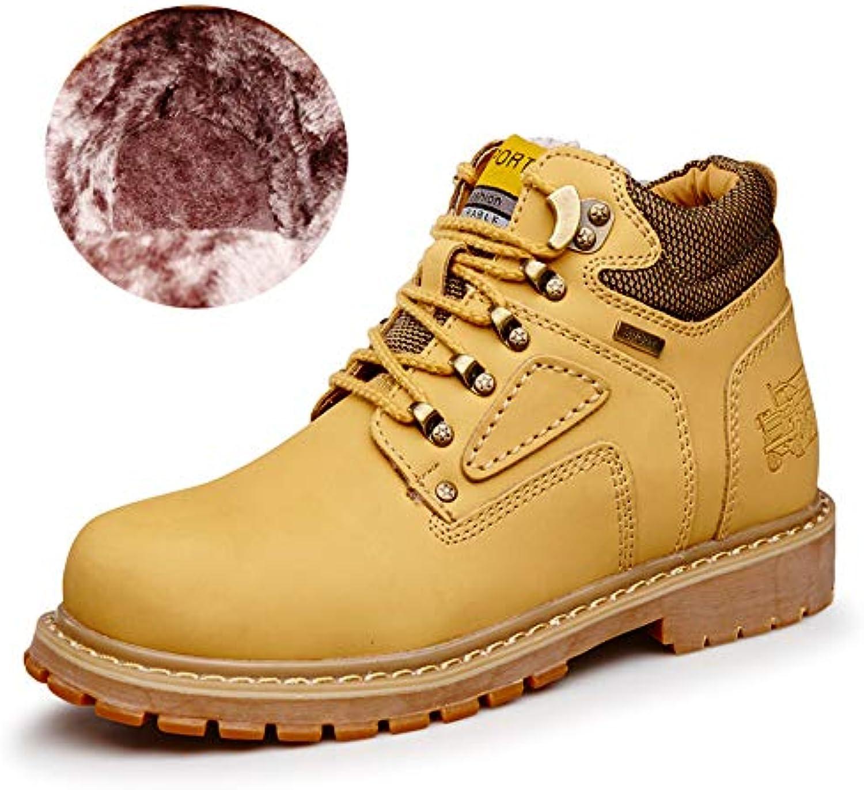 Shufang-scarpe Stivaletti da Uomo, Casual Classic Round Top High Top Cotton Warm Outsole Work scarpe (Convenzionale... | Alta sicurezza  | Maschio/Ragazze Scarpa