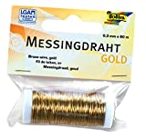 Folia 79465 - Messingdraht, 0,3 mm x 80 m, gold