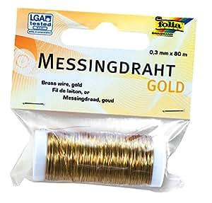 Folia 79465 - Messingdraht, 0.3 mm x 80 m, gold