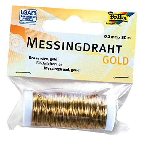 folia 79465 - Messingdraht, 0,3 mm x 80 m, gold