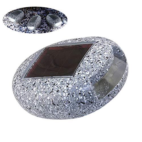 Rtyuiio luci solari da giardino lampade a forma di roccia impermeabili a forma di roccia lampade da prato per esterni cortile decorazione paesaggio luce calda