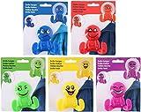 5 x DKB Kinder Kleiderhaken Smiley/Handtuchhaken/Handtuchhalter Saugnapfhaken