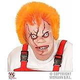 Lively Moments Maske / Latexmaske Killerpuppe mit orangefarbenem Haar