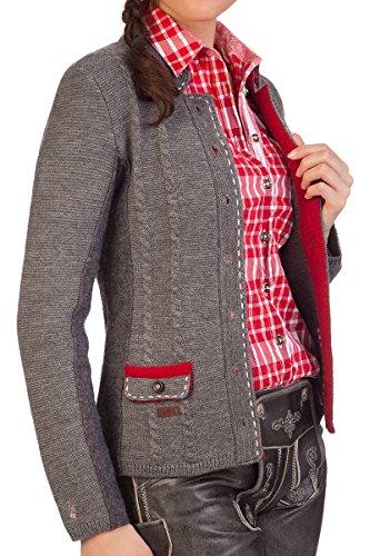 Damen Trachten Strickjanker - WIDORA - braun, mittelgrau, Größe L