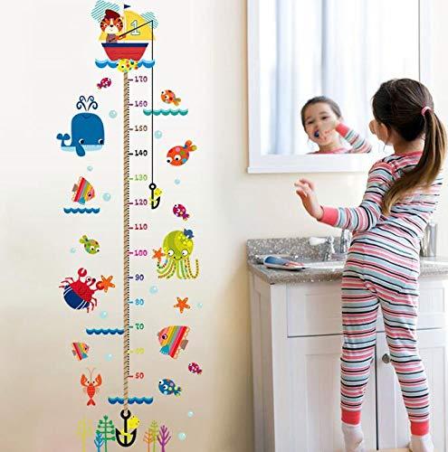 JUNDY Angeln Höhe Aufkleber Kinderzimmer Klassenzimmer Kindertag Maßband Selbstklebende Höhe Wasserdichte Aufkleber 60cm * 90cm J Angeln Karte Diagramm