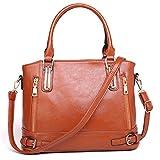 Tasche für Frauen Litchi Muster Handtasche Frauen PU Leder Handtasche Schultertasche Big Tote Sac Brown 33cmx14cmx24cm