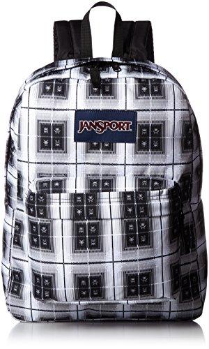 JanSport Superbreak Backpack- Sale Colors (Black Arcade Plaid) -