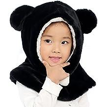 059e8f1bf YOPINDO bebé sombrero de invierno de la niña caliente suave tejer lana  Earflap Crochet Animal Beanie