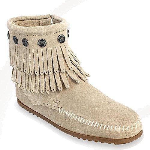 Minnetonka Women's Double-Fringe Side-Zip Boot -