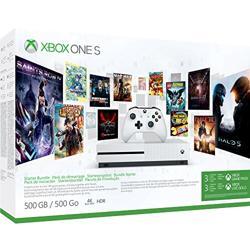 Xbox One S 500GB Konsole - Starter Bundle inkl. 3 Monate Xbox Game Pass