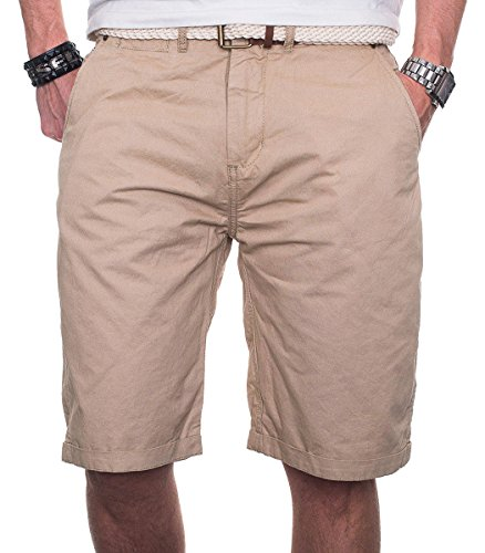 Geographical Norway Herren Chino Short Sommer Bermuda kurze Hose Shorts Beige