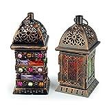 Orientalische Laterne Windlicht Balkon Garten Deko Lampe Marokko Orient Dekoration Weihnachtsdeko Adventsdeko (Einzeln - Design 2) - 3